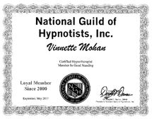 National Guild of Hypnotists, Inc. Member