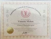 American Council of Hypnotist Examiners Certificate